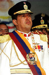 Hugo Chavez in full dress uniform