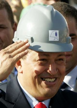 Chavecito in a very special hard hat