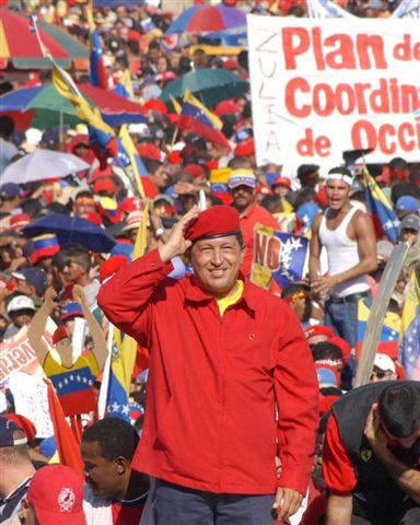 Hugo Chavez--nobody looks better in red