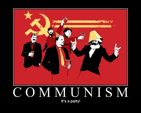 Communism--it's a PAR-TAY!