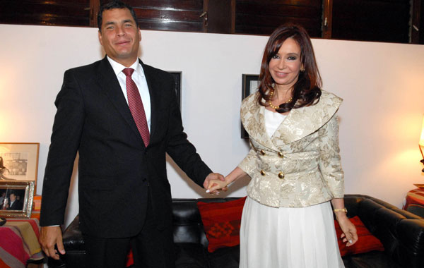 Correa and Cristina, two great looking presidents who look great together