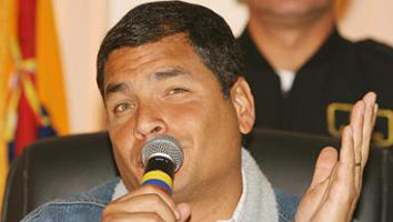 I'm jealous of Rafael Correa's microphone. Aren't you?