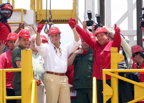 El Ecuadorable and Chavecito in the oilfields of the Faja