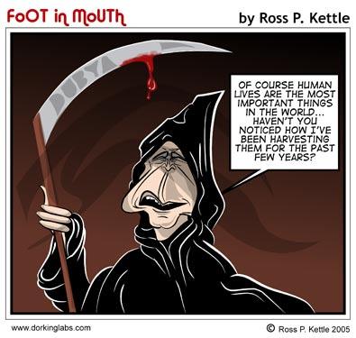 Dubya, the Grim Reaper
