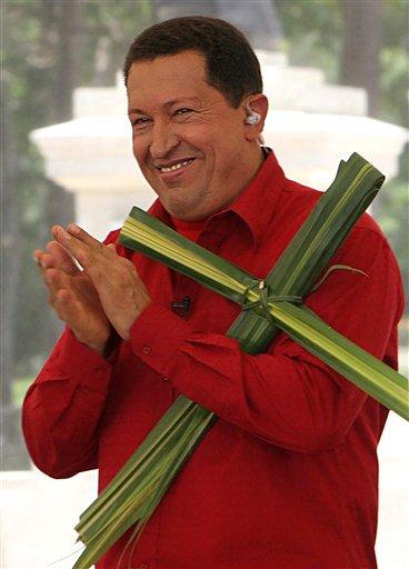 Hugo Chavez celebrates Palm Sunday
